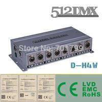 4 Way DMX Splitter;AC110V/AC220V input; 2 DMX inputs to 4 DMX outputs;DMX amplifier,dmx distributor