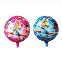 Free Shipping~ 10pcs/lot 18 inch Wholesale Aluminum foil balloon Helium balloons children toy aluminum foil circle plane