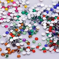 3 boxes/lot Nail Art Rhinestones & Decoration Glitter Tips Crystal Gems Flat 12 Colors Gemstones 2400 pieces/box