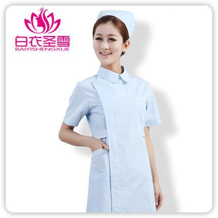 Free shipping women medical uniforms 2015 NEW uniformes hospital doctor summer scrub medical scrubs short sleeves lab coat(China (Mainland))