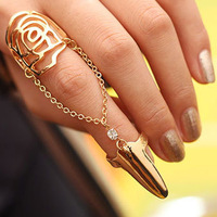 Min order 1pc Hot Sell Beautiful Elegant Sparkling Nail Rings For Women and girls Wholesale Aneis Bijouterie JZ145