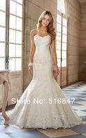FDCL Custom Size New Elegant White/ivory Beading Applique Tulle Bridal Gown Strapless Mermaid Floor-Length Wedding Dresses