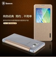 Galaxy A7 Smart case,Original BASEUS Primary ultrathin flip PU window case For Samsung galaxy A7 A700 + retail + free ship