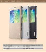 10pcs A7 Smart  case,Original BASEUS Primary ultrathin flip PU window case For Samsung galaxy A7 A700 + retail + free ship