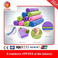 New Design Anti-skidding Yoga Mat Eco-friendly PVC Yoga Mat Pilates Fitness Slip-resistant Mat Broadened Yoga Dance Mat