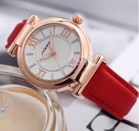 SINOBI Brand Leather Lady Causal Watch Analog Display Women Dress Watch Fashion Quartz Watch Women Wristwatch relogio feminino