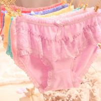 Hot sale wholesale new 2015 Women's sexy cotton underwear sexy briefs lace bow cute cotton underwear female underwear wholesale