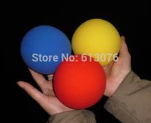 10cm soft sponge ball,red/yellow/blue color,20pcs/lot - Magic accessory(China (Mainland))