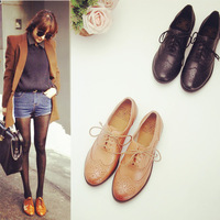 Fashion leather shoes Women's single shoes Female nude shoes 2015 new style female shoes flats