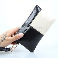New Arrival 2015  Fashion Genuine Leather Women Day Clutch Colors Patchwork Phone Bags Ladies Handbag Mini Purse