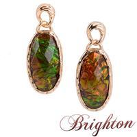 Fashion Jewelry Shiny Gold Plated Round Shaped Laser Stone Pendant Luxury  Women Statement Dangle Earrings