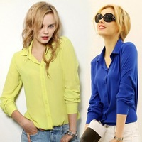 Women Direct Selling Cotton Corduroy Full Lantern Sleeve Turtleneck Solid Blouse Blusas 2015 New Autumn Color Long Sleeve Shirt