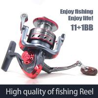 New Popular High Power Gear Fishing reel Spinning Spool Aluminum Spining Reel Super Technology Bearing Balls 2000-6000 Wheel