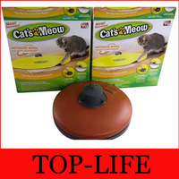 Free shipping Retail Undercover Mouse Cat toy Panic Mouse Cat's Meow Electronic Cat Toy Cat Training Tool TV042 By EMS
