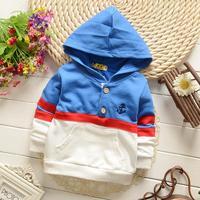 4pc/lot boy hoodies baby cotton pullover 2015 spring new kids sweatshirt children clothing s547