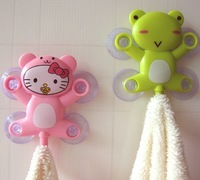 Free shipping bathroom sets home greative design suction hooks family cartoons rotatable sucker hooks