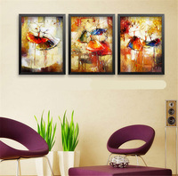 Ballet abstract painting restaurant art gallery vertical metope draw European art printing canvas paiting HD0280