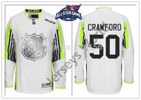 2015 All Star Ice Hockey Jersey  #50 Corey Crawford Ice Hockey Jerseys White All Star  Switched Logo Free Shipping M-XXXL
