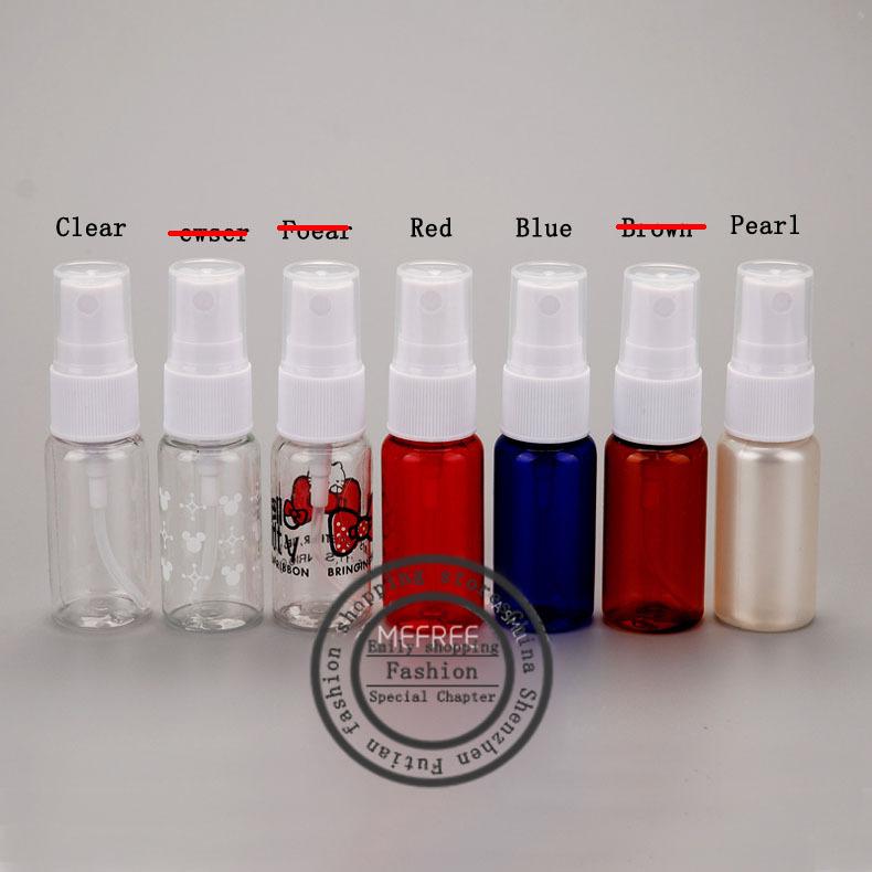 Free shipping 50PCS, 15ml PET cosmetic bottles, mini spray bottles,refillable bottles, travel bottles(China (Mainland))