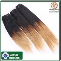 Human Hair Straight Brazilian Omber Hair 3pcs Lot 6A Grade Human Hair Extensions Hair Weft