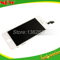 20 pcs lot Glass Touch Screen Digitizer & LCD Assembly Replacement For iPhone 5S 5C black and white color & Free DHL