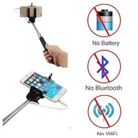 Selfie Wired Monopod Stick Cable Take Pole For Apple iPhone 4 4G 4 5 5S 5C 6 6G