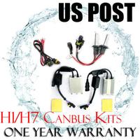 US Stock Free Shipping CANBUS HID XENON CONVERSION KIT BULBS 55W Error FREE AC Digital Headlight Lamp H1 H7 4300K 6000K 10000K