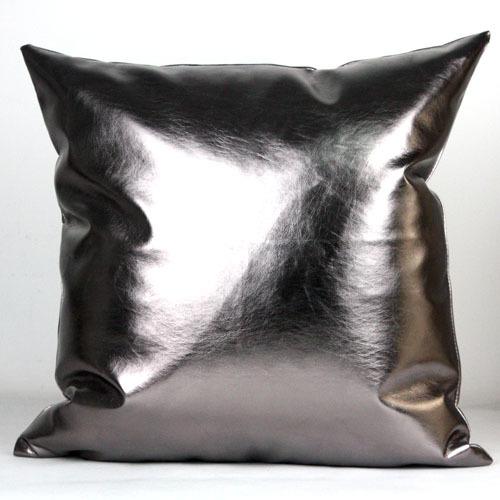 Postmodern Art Metallic PU Leather Soft Leather Sofa Cushion Pillow Car Cushion Pillow Lumbar BM153(China (Mainland))