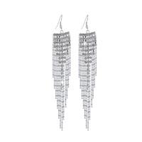 new Shining Silver Tassel Long Earring Jewelry Earring Women Crystal earring For Women