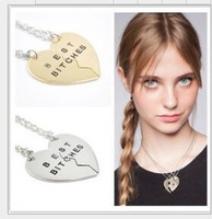 2015 New Necklace Heart necklace Gold Best Fuction Bitches Pendant Necklace for Best friend