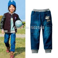 2015 Autumn Children Jeans Boy Double pocket Jeans Long Pant Kids Clothes Free Shipping 5 PCS