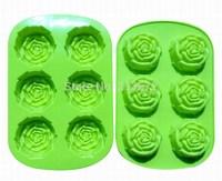 DIY Chocolates Eco-Friendly Food-grade Silicone Cake Mold Originality Convenient New Creative Trends 6PCS Rose Styles Cake Tools
