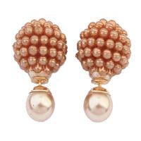 TOP new fashion brand crystal earrings jewelry gift pearl ball earrings sweet lady Mass earrings 112902