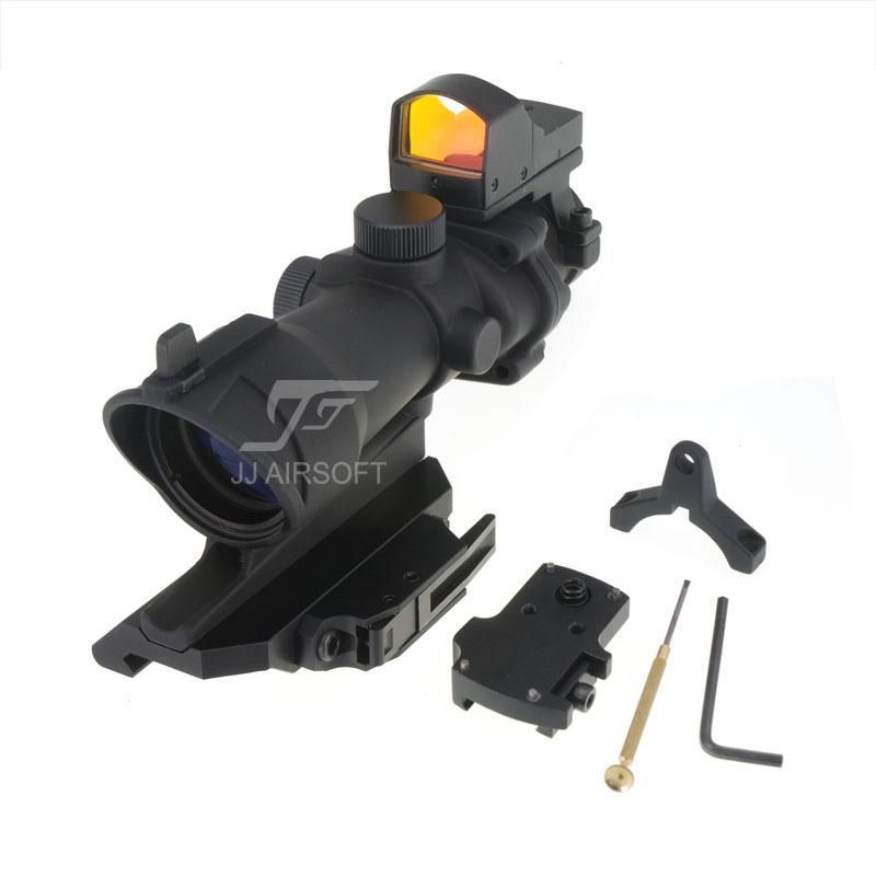 Винтовочный оптический прицел JJ Airsoft ACOG 4 x 32 , AC12033 /qd JA-5341-BK