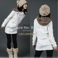 Han Long Sweet Cute Printed Cap Fleece Coat C1502