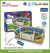 Estadio Alberto J. Armando 3D Puzzle Stadium Model Club Atletico Boca Juniors Football Club Home(China (Mainland))