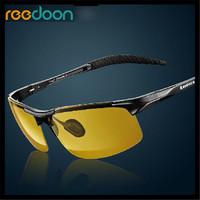 2015 New Roodoon 8177 Brand Polarized myopia Men Large Size Sunglasses Sports Coating Sun Glasses Driving Glass Night Vision