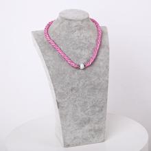 2015 NEW Fashion Design Girl Jewelry Handmade Stardust Crystal Rhinestone Necklaces Free Shipping(China (Mainland))
