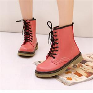 Fashion Designer British Style Spring Autumn Soft PU Leather Ladies Boots Casual Women Lace-Up Shoes Work&Safety Shoes(China (Mainland))