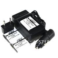 New3.7v li ion 2Pcs Li-50B Li50B Rechargeable Battery +1 pcs Charger +1pcs car charger for Olympus Camera XZ-Z U1010 u1020 u1030