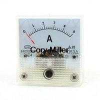 Square Design Analog Panel Amp Meter Amperemeter 91C4 DC0-5A