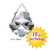 New 10PCS 1.5 Inch Clear Maple Leaf Crystal Pendant Chandelier Crystal Wedding Home Description Free Shipping