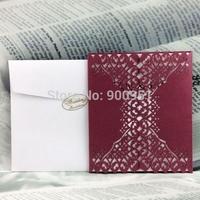 free shipping New Elegant Wedding Invitationcards