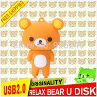 New arrival 2015 Cartoon Bear Drive 8GB/16GB/32GB/64GB Usb Flash Drive USB 2.0 Memory Stick pen drive Free Shipping