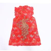 nd autumn winter children children's wear cheongsam cheongsam silk dress cheongsam dresses summer girls explosion models