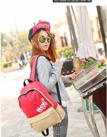 New Korean fashion canvas shoulder bag leisure travel schoolbag school students backpack