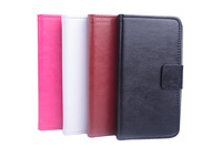 luxury wallet case leather cover flip shell for xiaomi hongmi/red rice/redmi 2 cell phone