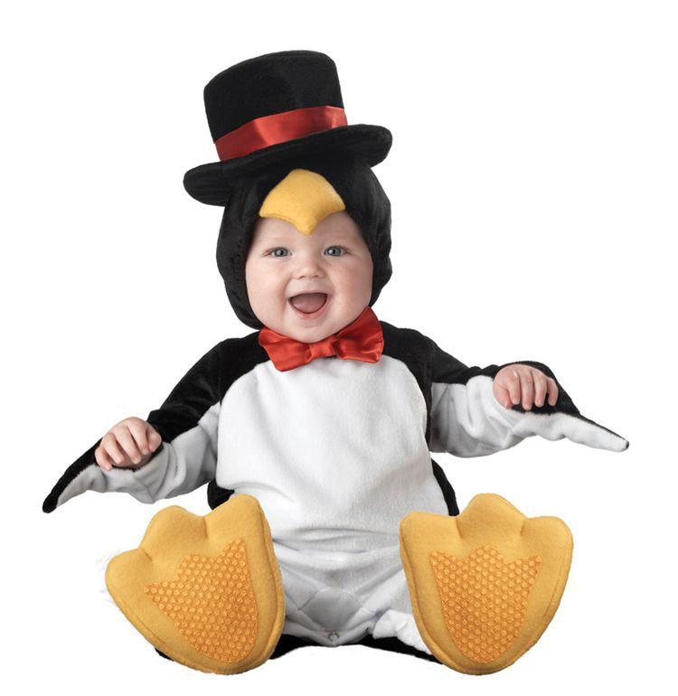 freeshipping halloween Costume Child autumn winter Clothi Jumpsuit spring & autumn animal style romper baby gift box set penguin(China (Mainland))