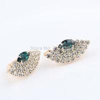 18k Yellow Gold Filled Womens Earrings with Prong Settings Czs  fan shaped Statement Earrings