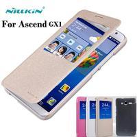 Original Nillkin For Hauwei Ascend GX1 Case Sleep Function Open Window Case Cover For Hauwei Ascend GX1 Phone Bag
